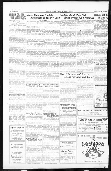 Daily Trojan, Vol. 16, No. 59, March 02, 1925