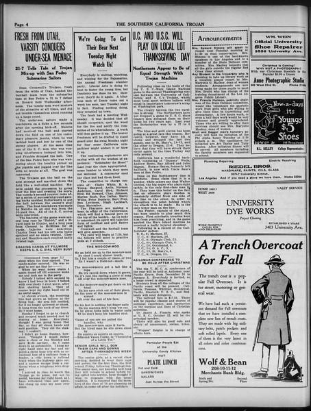 The Southern California Trojan, Vol. 9, No. 17, November 23, 1917