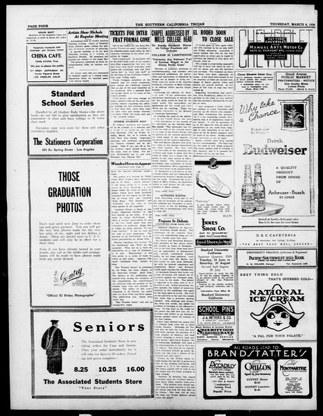 The Southern California Trojan, Vol. 15, No. 58, March 06, 1924