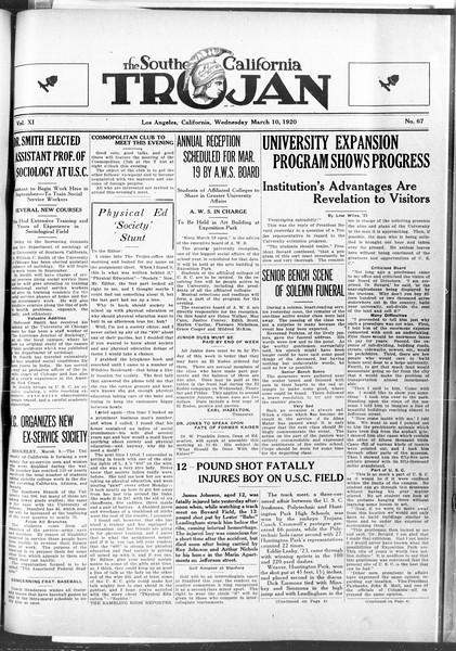 The Southern California Trojan, Vol. 11, No. 67, March 10, 1920