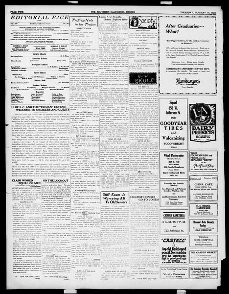 The Southern California Trojan, Vol. 14, No. 48, January 18, 1923