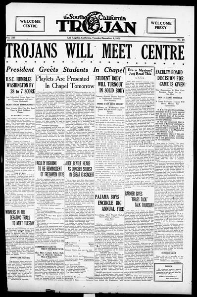 The Southern California Trojan, Vol. 13, No. 26, December 06, 1921