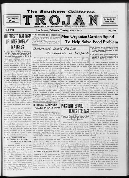 The Southern California Trojan, Vol. 8, No. 104, May 01, 1917