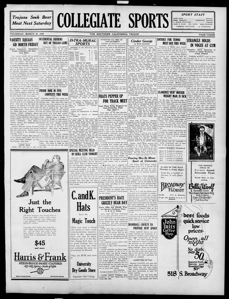The Southern California Trojan, Vol. 15, No. 64, March 20, 1924