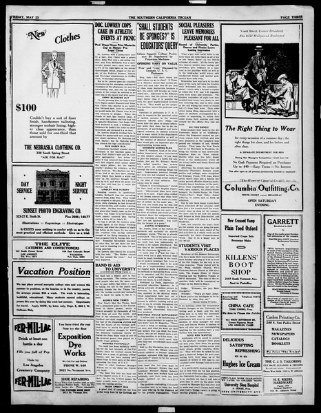 The Southern California Trojan, Vol. 14, No. 96, May 25, 1923