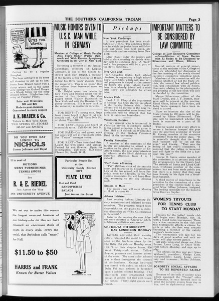 The Southern California Trojan, Vol. 8, No. 16, October 13, 1916