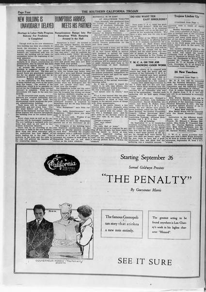 The Southern California Trojan, Vol. 12, No. 1, September 23, 1920