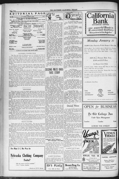 The Southern California Trojan, Vol. 12, No. 48, January 07, 1921