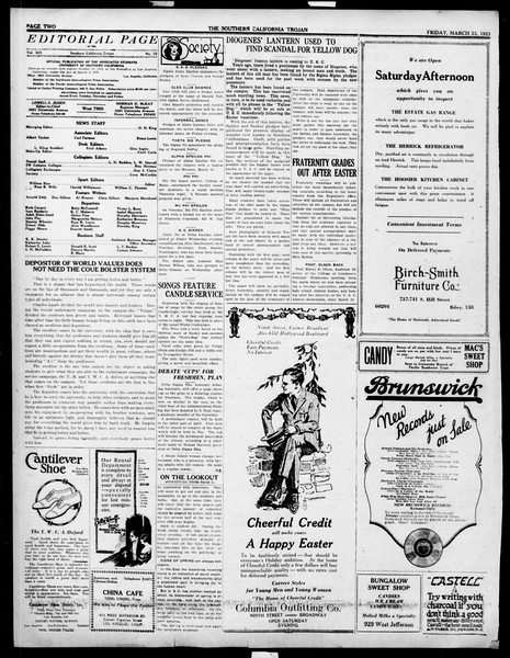 The Southern California Trojan, Vol. 14, No. 72, March 23, 1923