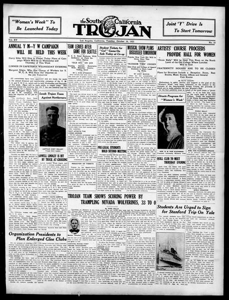 The Southern California Trojan, Vol. 15, No. 10, October 16, 1923