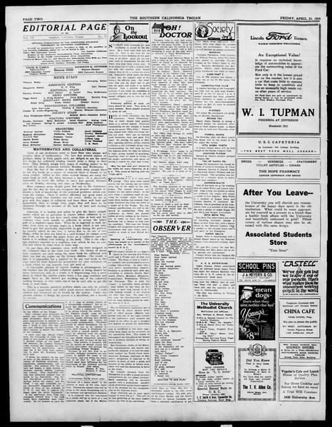 The Southern California Trojan, Vol. 15, No. 77, April 25, 1924