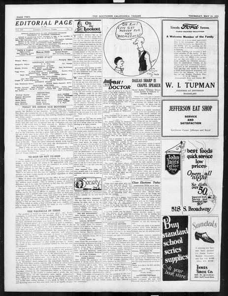 The Southern California Trojan, Vol. 15, No. 85, May 15, 1924