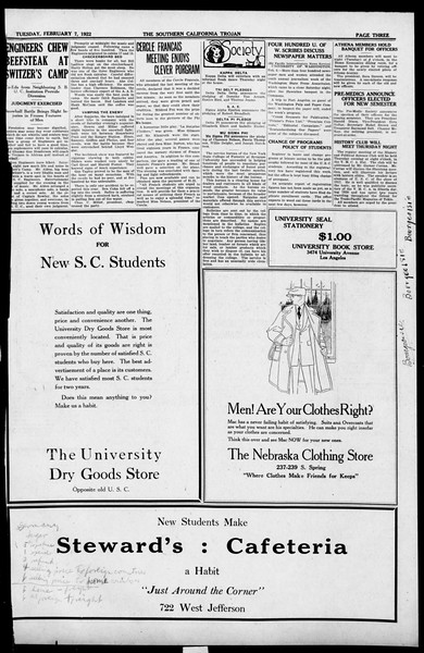The Southern California Trojan, Vol. 13, No. 41, February 07, 1922