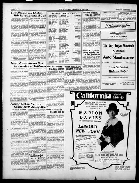 The Southern California Trojan, Vol. 15, No. 9, October 12, 1923