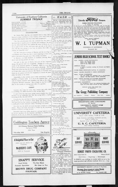 The Southern California Trojan, Vol. 3, No. 10, August 01, 1924