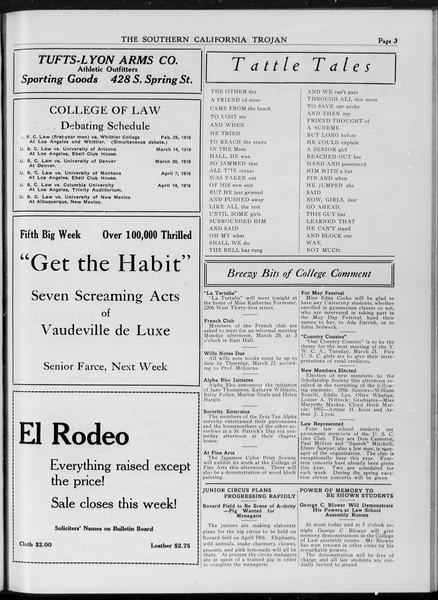 The Southern California Trojan, Vol. 7, No. 88, March 17, 1916