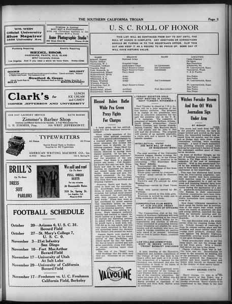 The Southern California Trojan, Vol. 9, No. 11, November 02, 1917