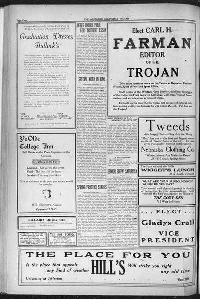 The Southern California Trojan, Vol. 12, No. 78, May 06, 1921