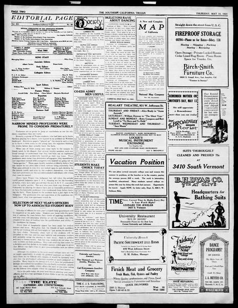 The Southern California Trojan, Vol. 14, No. 89, May 10, 1923