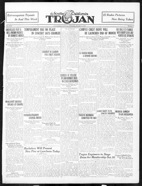 The Southern California Trojan, Vol. 16, No. 9, October 09, 1924