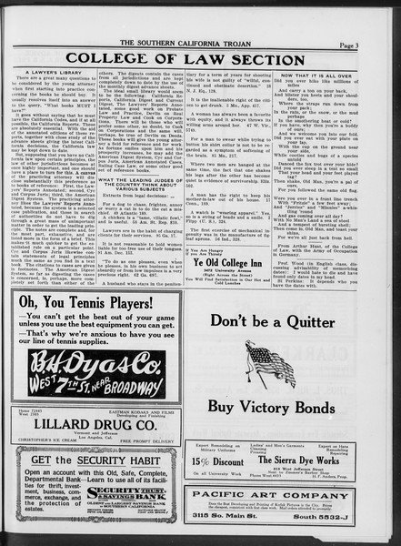 The Southern California Trojan, Vol. 10, No. 18, April 29, 1919