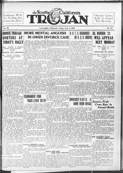 The Southern California Trojan, Vol. 11, No. 101, June 04, 1920