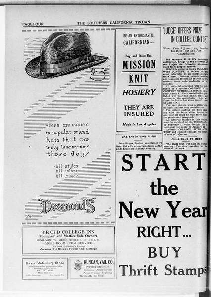 The Southern California Trojan, Vol. 11, No. 43, January 14, 1920