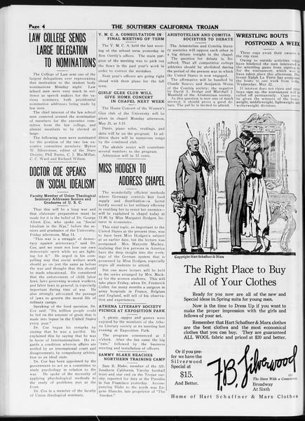 The Southern California Trojan, Vol. 8, No. 113, May 16, 1917