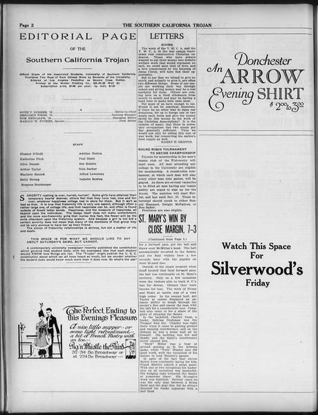 The Southern California Trojan, Vol. 9, No. 10, October 30, 1917