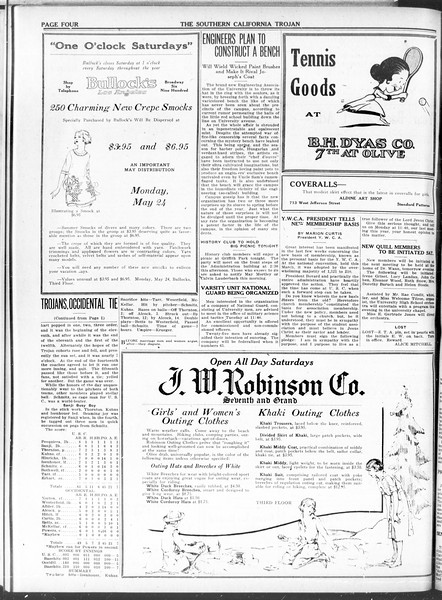 The Southern California Trojan, Vol. 11, No. 97, May 21, 1920