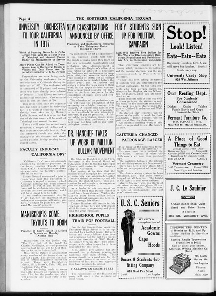 The Southern California Trojan, Vol. 8, No. 11, October 05, 1916