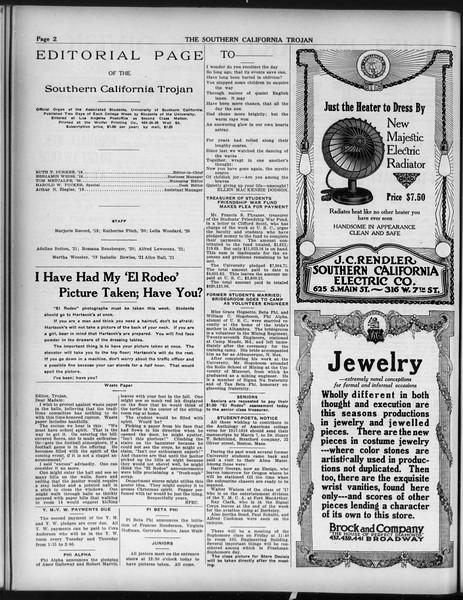 The Southern California Trojan, Vol. 9, No. 30, March 01, 1918