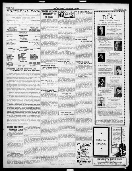 The Southern California Trojan, Vol. 14, No. 78, April 13, 1923