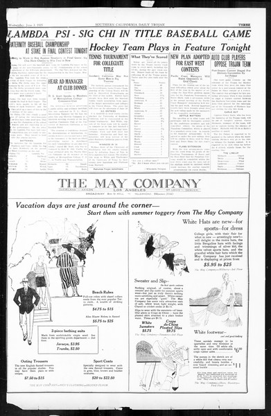 Daily Trojan, Vol. 16, No. 119, June 03, 1925