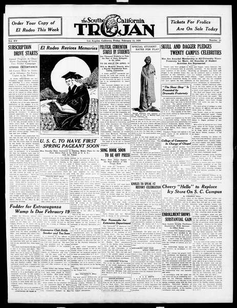The Southern California Trojan, Vol. 15, No. 51, February 15, 1924