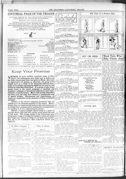 The Southern California Trojan, Vol. 11, No. 98, May 25, 1920