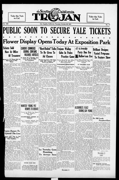 The Southern California Trojan, Vol. 13, No. 11, October 20, 1921