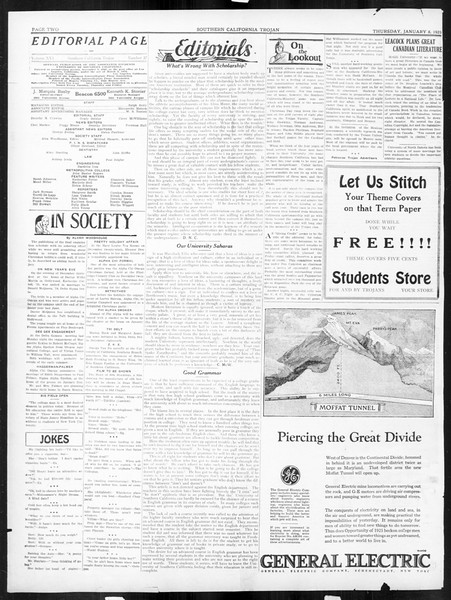 The Southern California Trojan, Vol. 16, No. 37, January 08, 1925