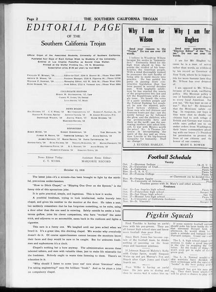 The Southern California Trojan, Vol. 8, No. 16, October 13, 1916