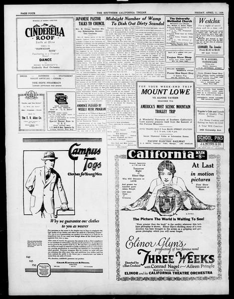 The Southern California Trojan, Vol. 15, No. 74, April 11, 1924