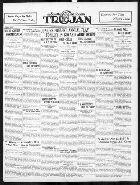 The Southern California Trojan, Vol. 16, No. 43, January 22, 1925