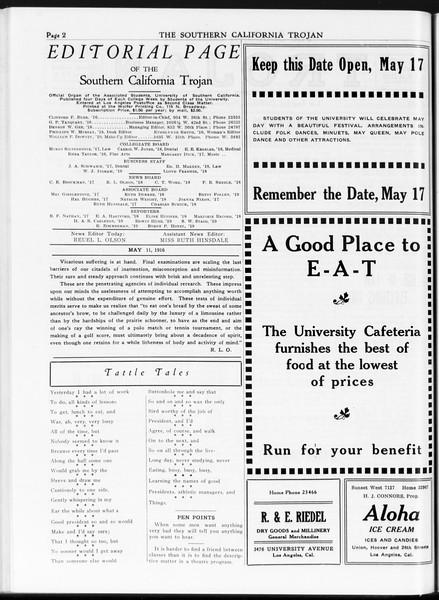 The Southern California Trojan, Vol. 7, No. 115, May 11, 1916