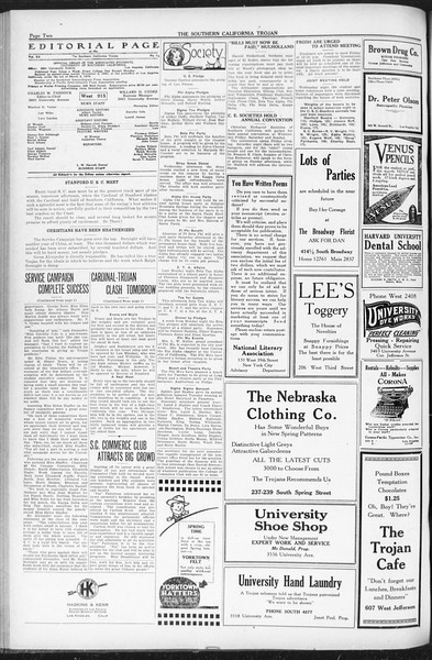 The Southern California Trojan, Vol. 12, No. 66, March 18, 1921