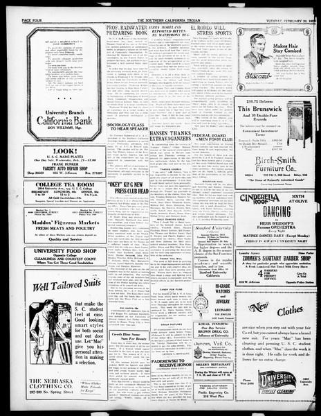 The Southern California Trojan, Vol. 14, No. 57, February 20, 1923
