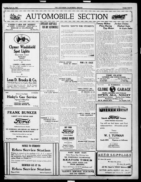 The Southern California Trojan, Vol. 14, No. 76, April 10, 1923