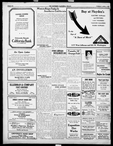 The Southern California Trojan, Vol. 14, No. 99, June 05, 1923