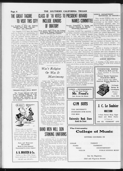 The Southern California Trojan, Vol. 8, No. 6, September 27, 1916