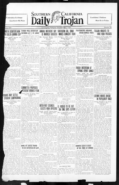 Daily Trojan, Vol. 16, No. 100, May 07, 1925