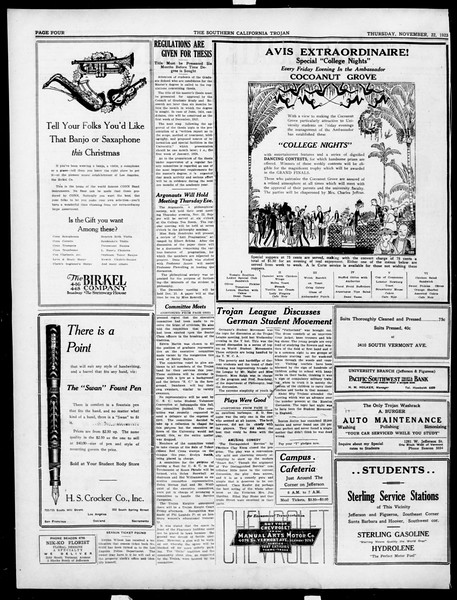 The Southern California Trojan, Vol. 15, No. 25, November 22, 1923