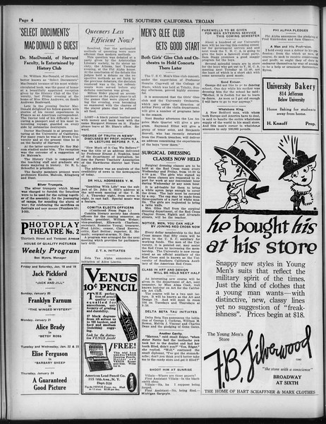 The Southern California Trojan, Vol. 9, No. 23, January 18, 1918